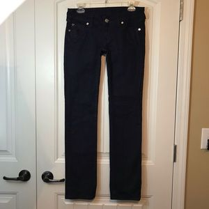 True Religion Billie Low Rise Straight Flap Jeans